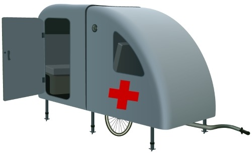 The World's most portable medical clinic. Designed for disaster zones, mass casualty incidents and difficult to reach places. Inexpensive and effective for treating medical emergencies in disaster situations.